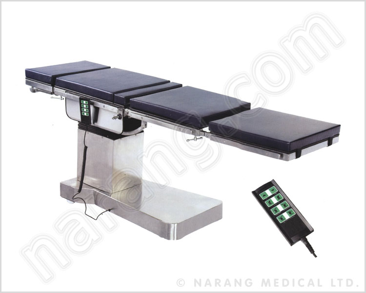 c-arm compatible fully electromatic o.t. table with accentric base